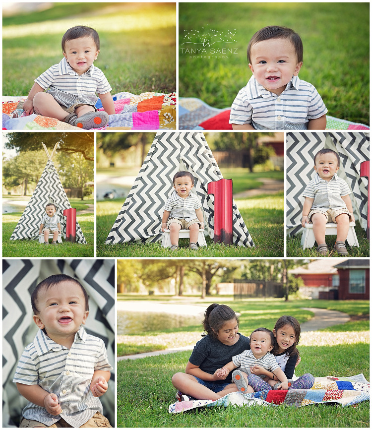 Celebrating first birthday with a tent