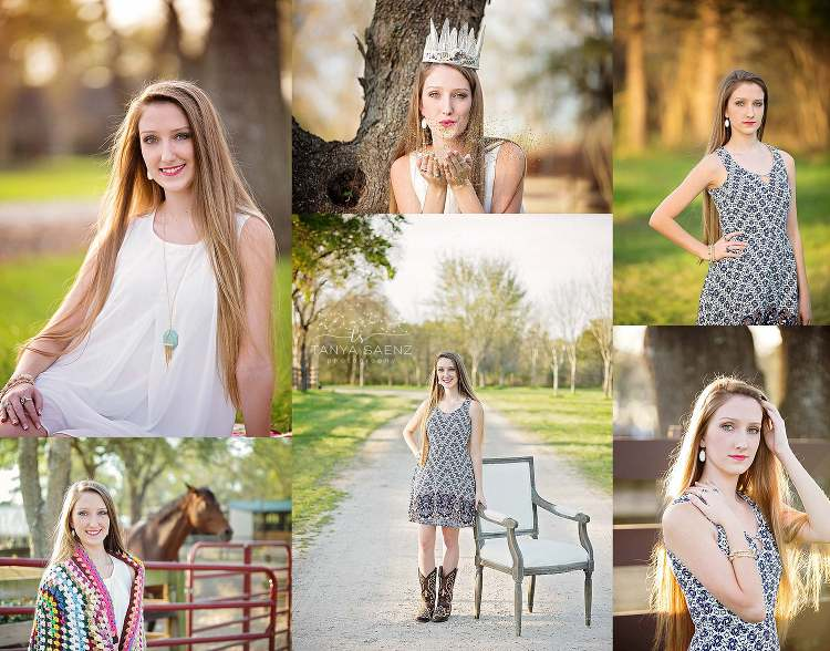 Senior session with a horse