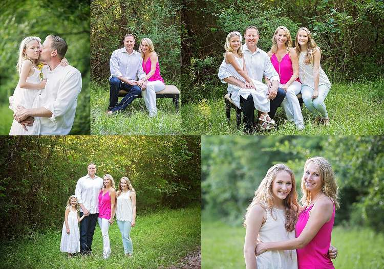 Family Session in The Woods